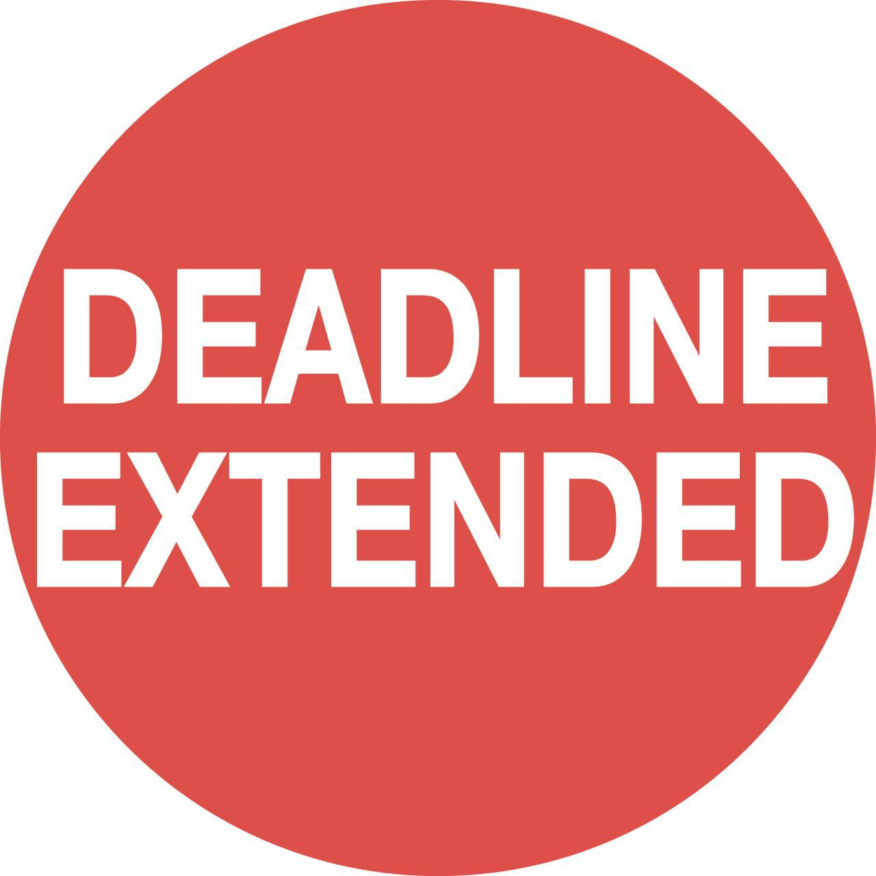 Deadline Extension for the Last Time